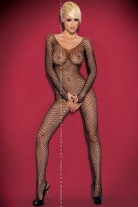 Боди Obsessive N 109 bodystocking Black