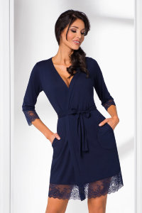 Халат Donna II Hana dressing gown Dark Blue